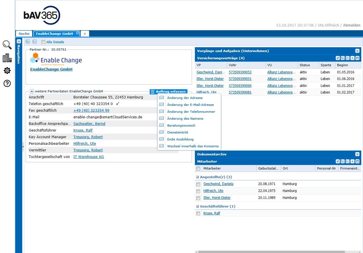 Arbeitgeber Portal Änderung Arbeitnehmer